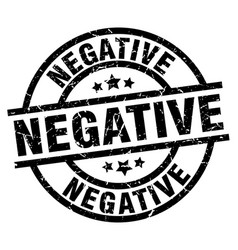 Negative round grunge black stamp vector