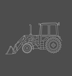 excavator draw vector image