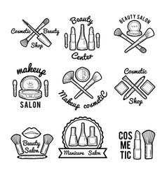 labels set for beauty salon monochrome pictures vector image