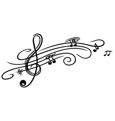 Music sheet clef vector image