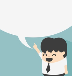 Business with speech bubbles vector
