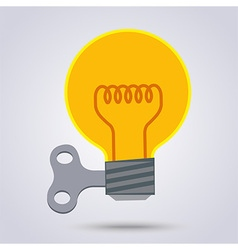 Light bulb wind up vector