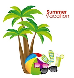 Summer vacation design vector