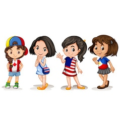 Girls from different countries vector