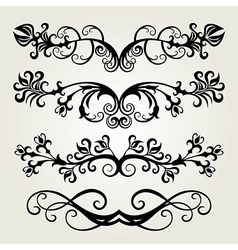 6floral line 05 vector image vector image