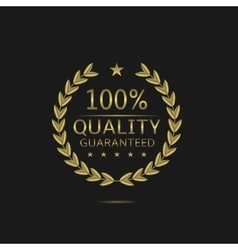 Golden quality badge vector