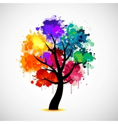 Abstract colorful tree vector