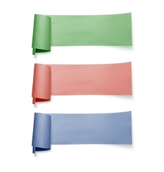 Set of colorful paper banners ribbons with vector
