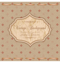 vintage congratulatory background vector image