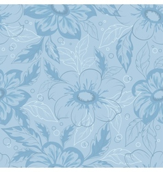 Background with outline flowers dahlia vector image