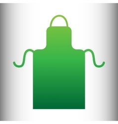 Apron simple icon vector