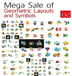 Mega collection of abstract symbols vector