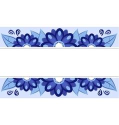 frame of blue flowers vector image