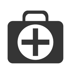 black and white medical bag graphic vector image