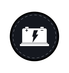 Car battery high voltage mechanic black circle vector