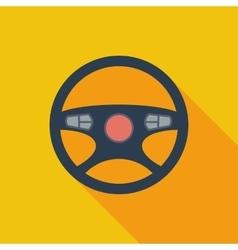 Car steering wheel icon vector