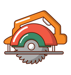 Circular saw icon cartoon style vector