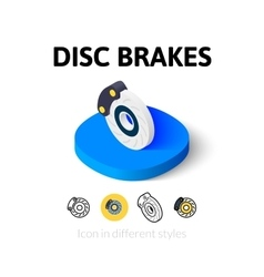 Disc brakes icon in different style vector