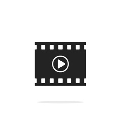 Filmstrip with play button icon video film vector image