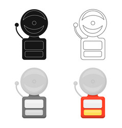 Fire alarm icon cartoon single silhouette fire vector