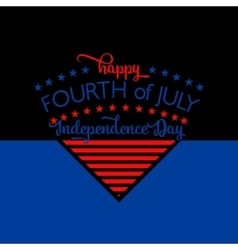 Fourth of july background felicitation triangle vector