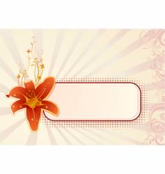 Horizontal wallpaper with orchid vector
