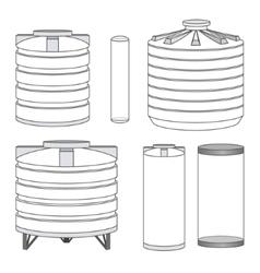 Industrial water tanks set vector image vector image