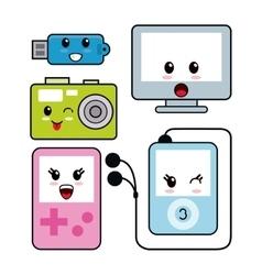 Kawaii icon technology Cartoon design vector image