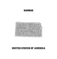 Label with map of kansas vector image vector image