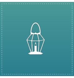Lantern flat icon vector