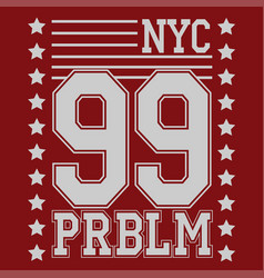new york t-shirt design vector image