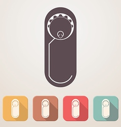 Newborn baby flat icon set in color boxes with vector