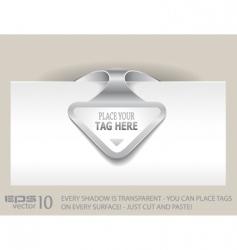 paper arrow tag vector image vector image
