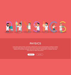 physics banner science alphabet vector image