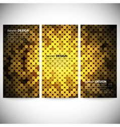 Set of vertical banners Abstract golden dots vector image