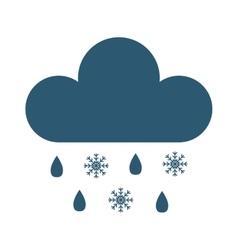 Snow cloud vector image vector image