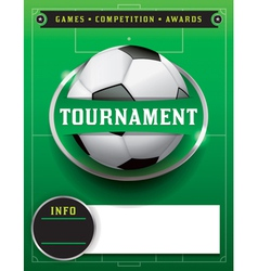 Soccer tournament template vector