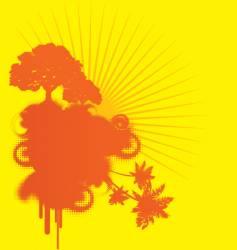 yellow urban background vector image