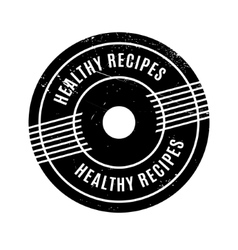 Healthy Recipes rubber stamp vector image