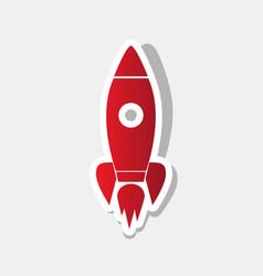 rocket sign new year reddish vector image