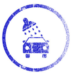 Car wash grunge textured icon vector