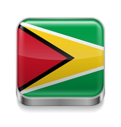 Metal icon of guyana vector