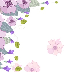 Watercolor clip art purple rosalinda vector