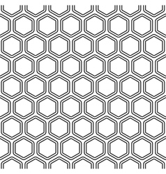 Seamless monochromatic hexagon pattern vector