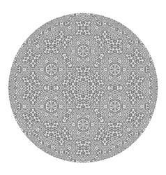 Ornamental round grey pattern vector