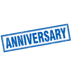 Anniversary square stamp vector