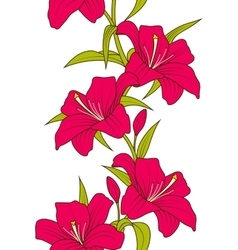 Beautiful seamless wallpaper with lily flowers vector