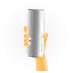 Big can drink in hand vector