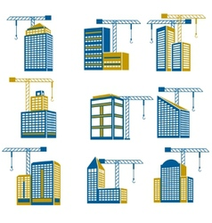 Building construction icons vector image vector image