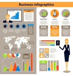 Business infographic flat banners poster vector